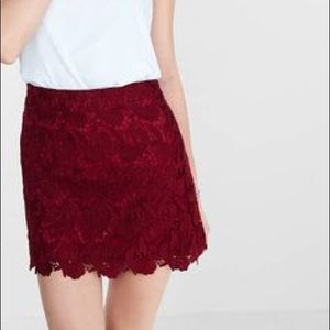 ✨NWT✨ Express Skirt, Size 2, Burgundy Lace